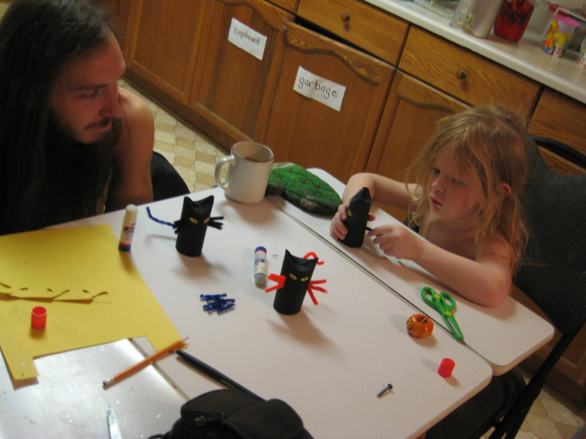 Daddy and Hope Craftin' 2014
